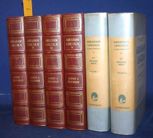 2291: Lincoln: Beveridge (4vols 1928) + Hertz (2vo 1931
