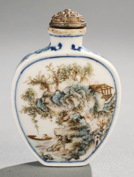 150: Chinese porcelain snuff bottle.