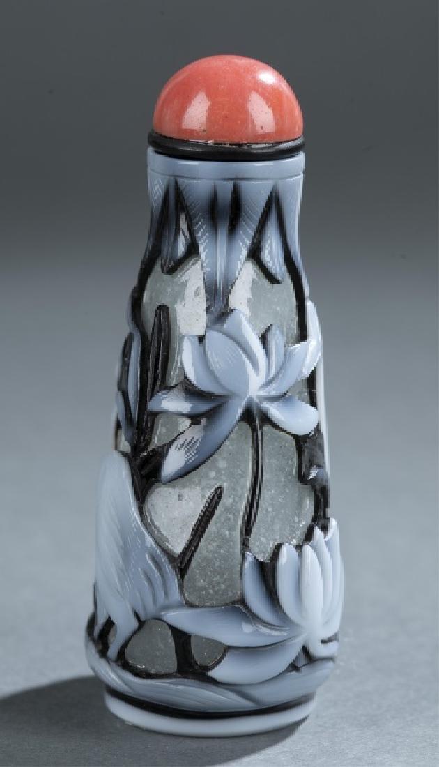 Peking glass snuff bottle. - 2