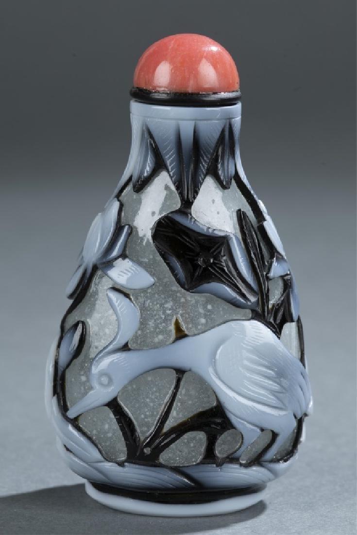 Peking glass snuff bottle. - 3