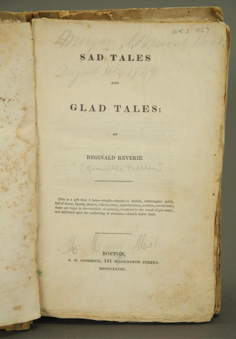 Sad Tales and Glad Tales. Grenville Mellen. - 2