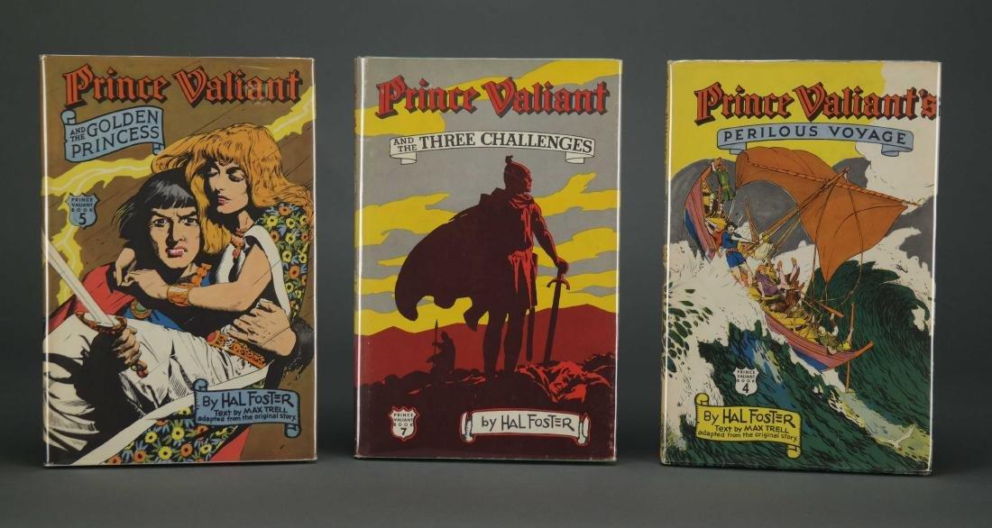 Prince Valiant. 6 vols. Hal Foster. 2 signed. - 3
