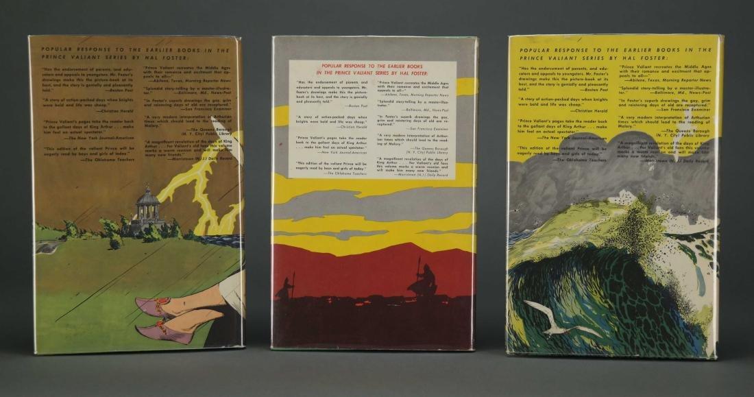 Prince Valiant. 6 vols. Hal Foster. 2 signed. - 4