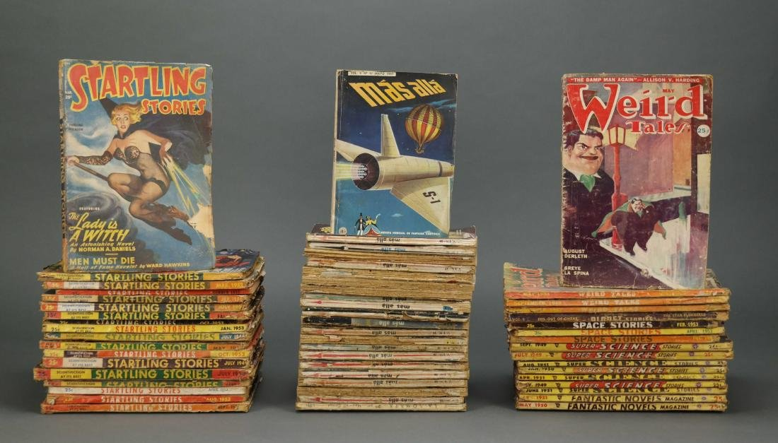 57 issues of assorted Pulp. 1940s-1950s.