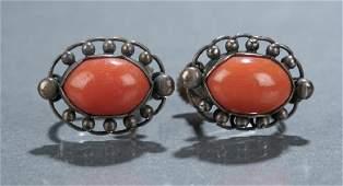 Pair of Georg Jensen coral earrings No 81