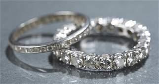 2 Diamond eternity bands