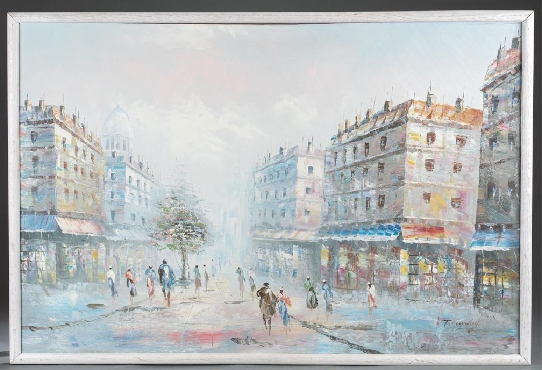 Timothy Crowley, Street View, 20th c., O/C.