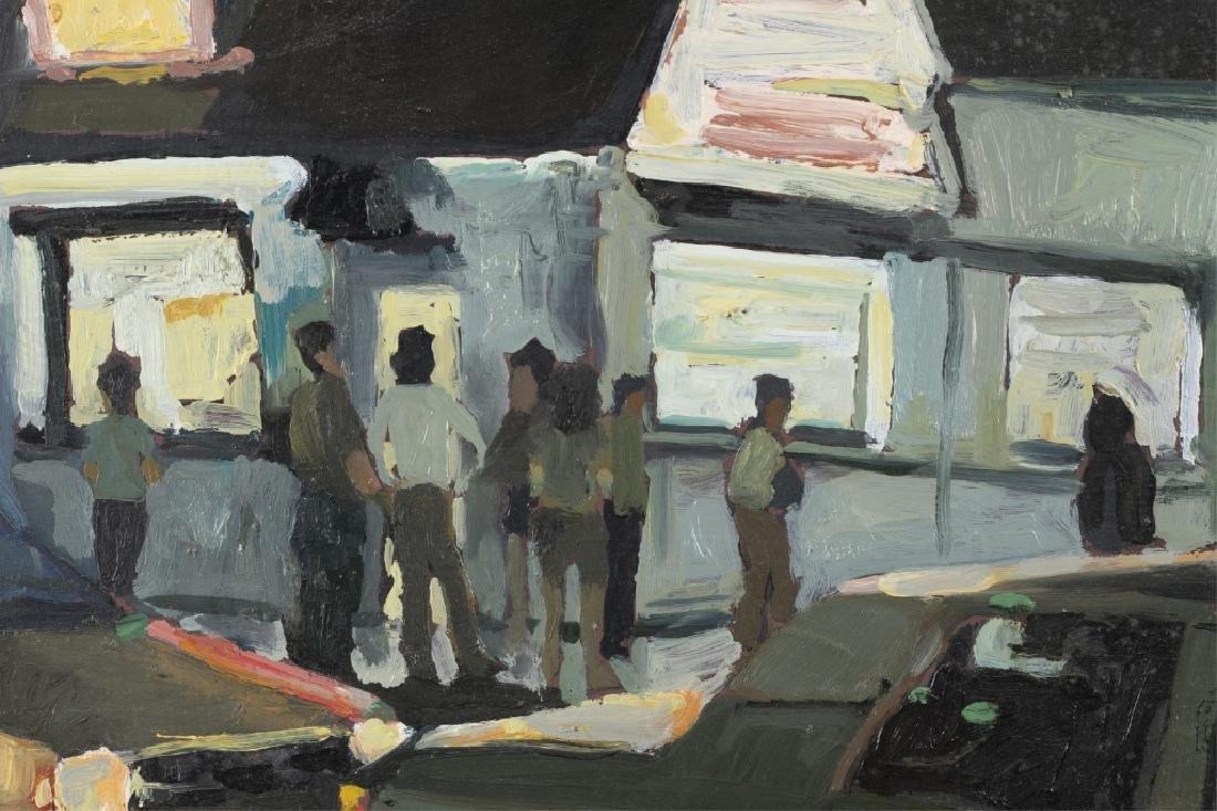 Unknown, Street Scene, 20th/ 21st c., A/C. - 2