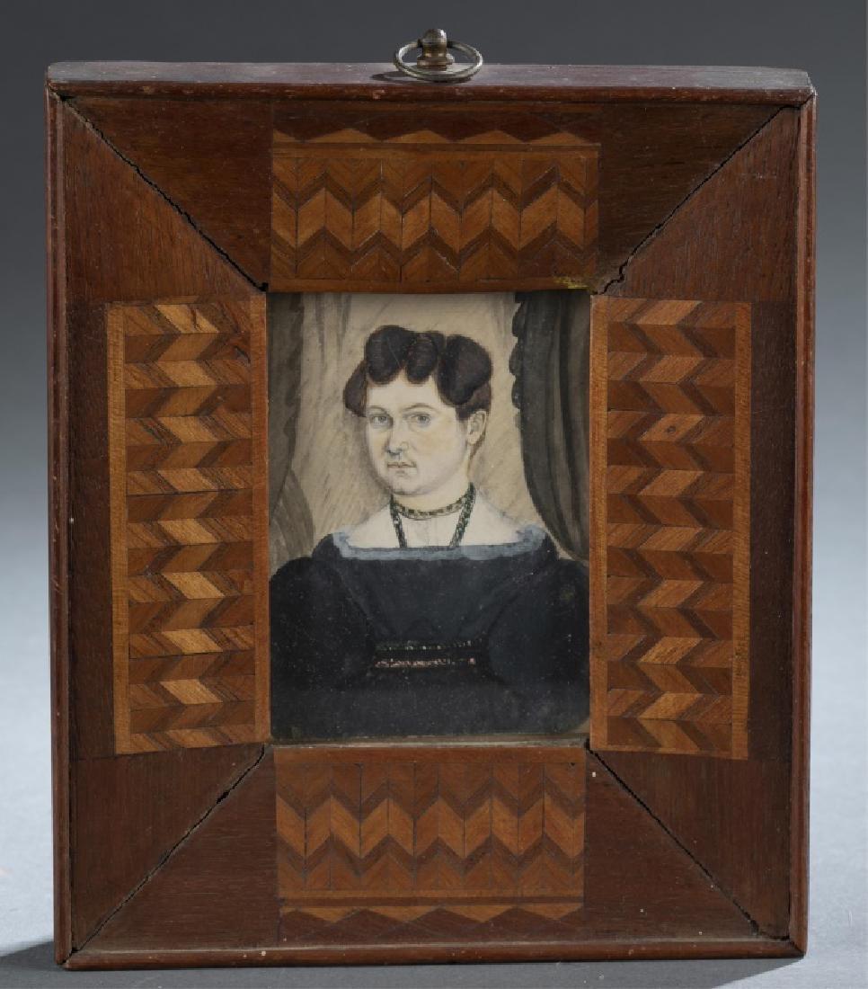 Portrait Miniature of a Woman, 19th c.