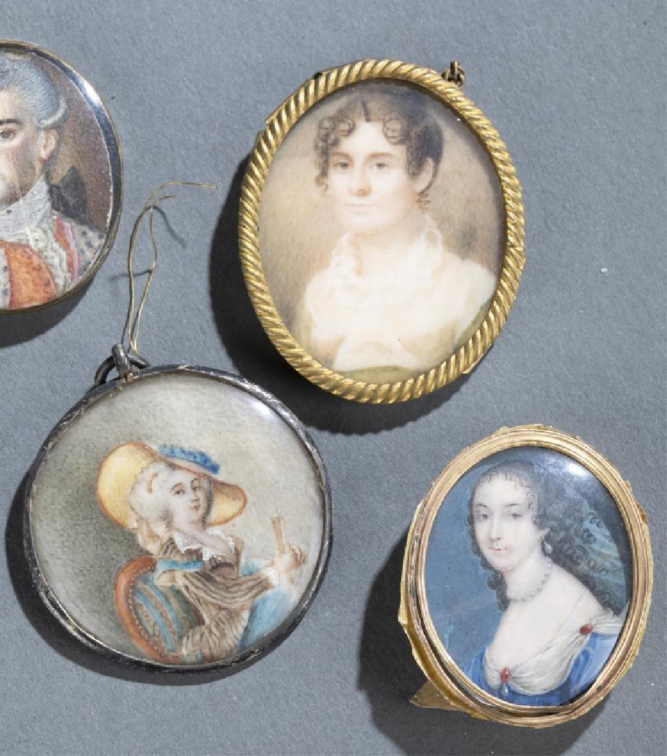 7 Portrait Miniature Pendants. - 2