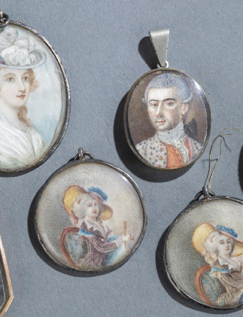 7 Portrait Miniature Pendants. - 3