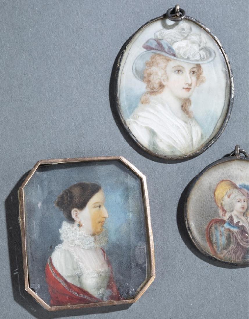 7 Portrait Miniature Pendants. - 4