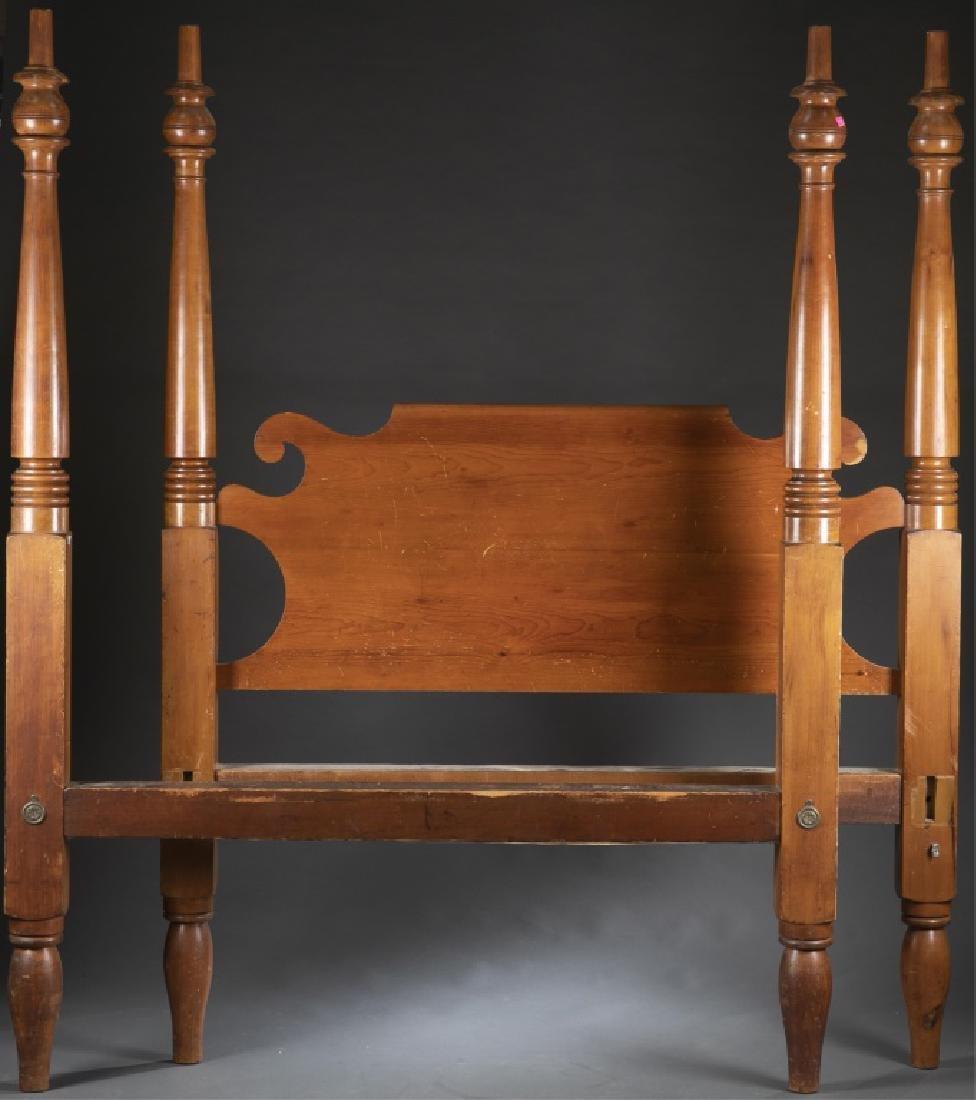 Civil War era, four-post carved bed frame, 19th c.