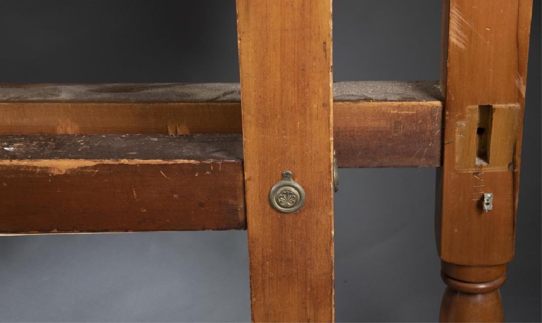 Civil War era, four-post carved bed frame, 19th c. - 3