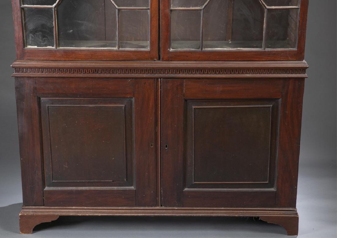 Federal Mahogany Glazed Door Bookcase. - 2