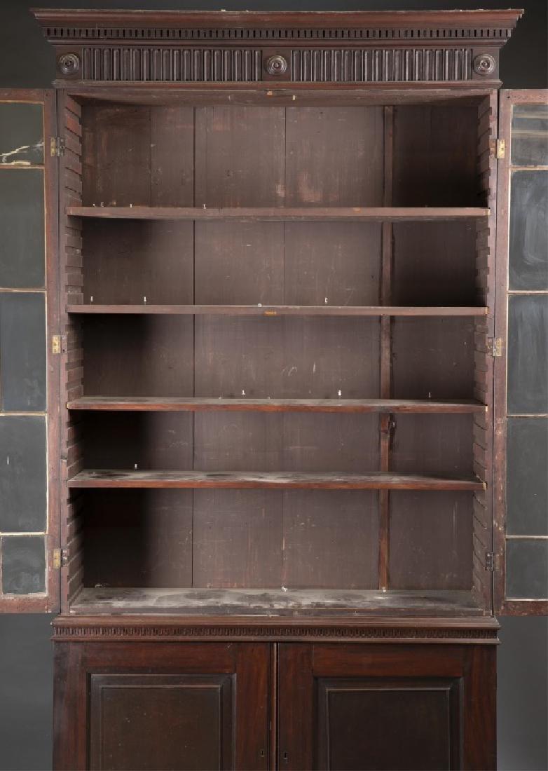 Federal Mahogany Glazed Door Bookcase. - 5