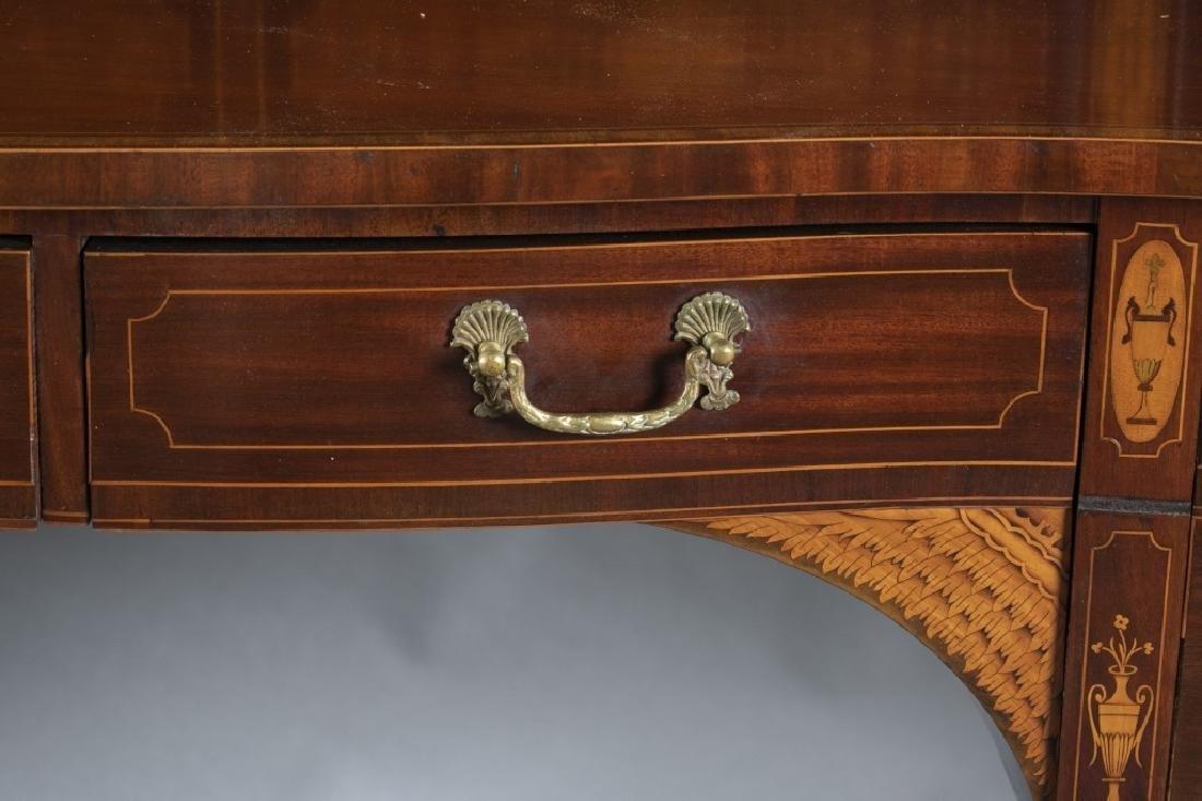 George III style mahogany serpentine sideboard. - 3
