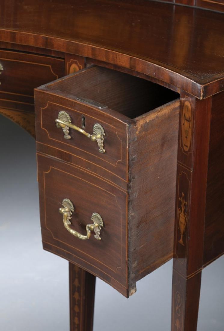 George III style mahogany serpentine sideboard. - 5