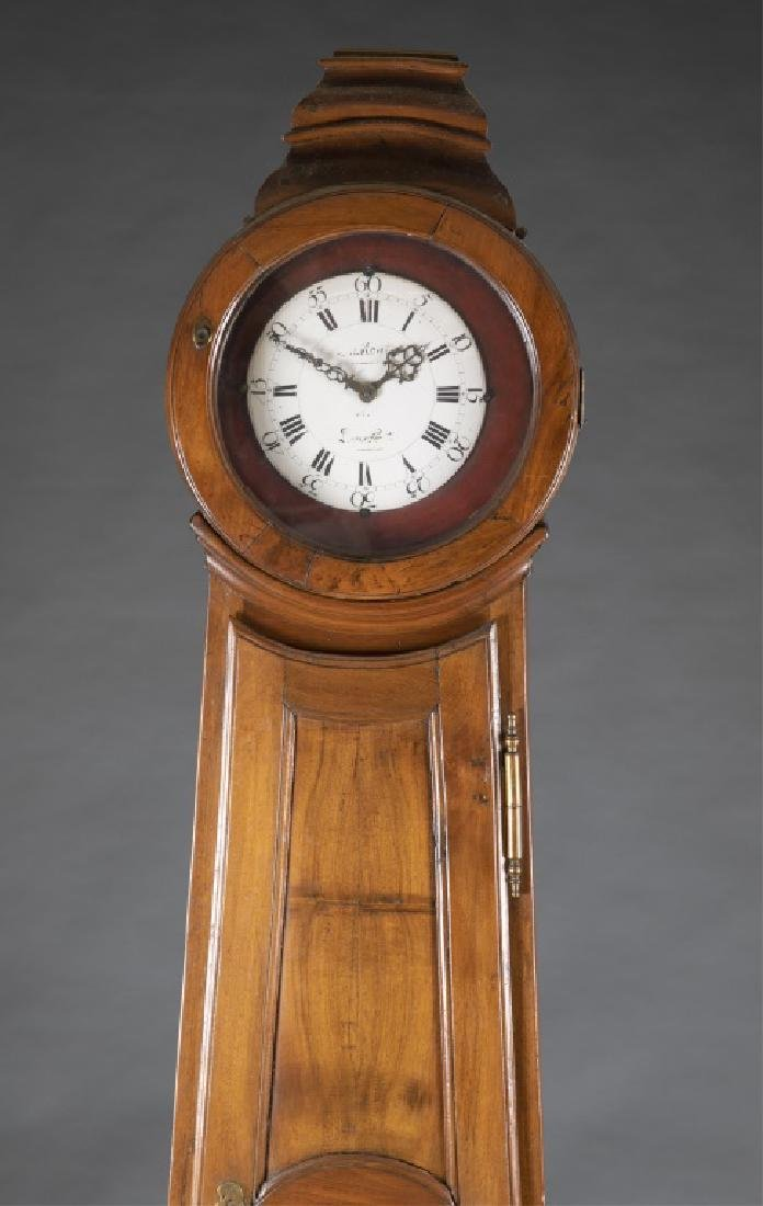 French Provincial Longcase Clock, 19th century. - 3
