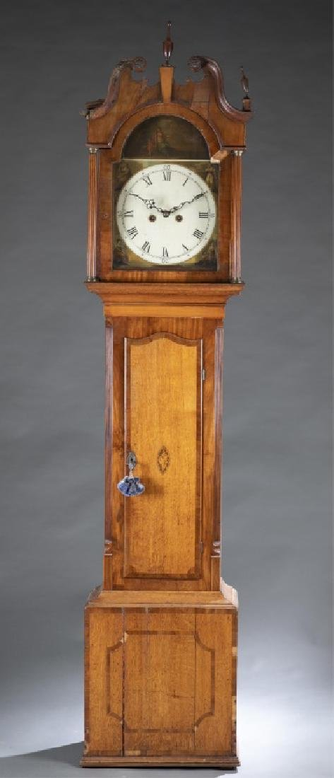 Marquetry Tall Case Clock, 19th century.