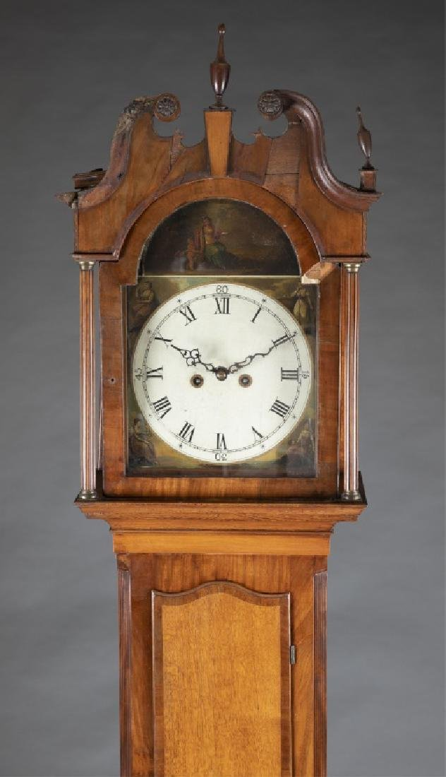 Marquetry Tall Case Clock, 19th century. - 2