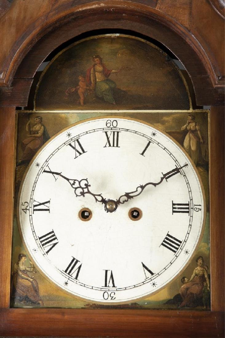 Marquetry Tall Case Clock, 19th century. - 4