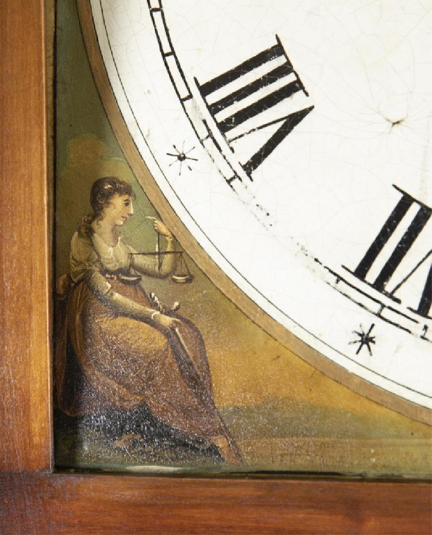 Marquetry Tall Case Clock, 19th century. - 5