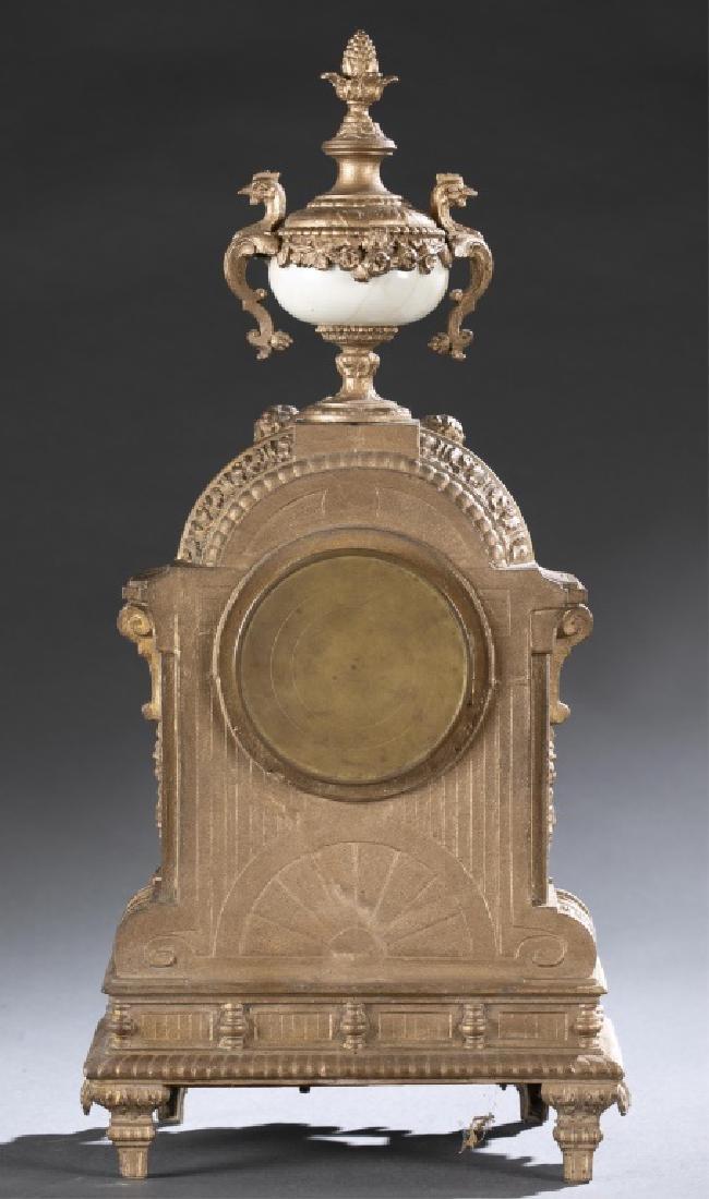 Bronze & Porcelain Mantel Clock, 19th century. - 8