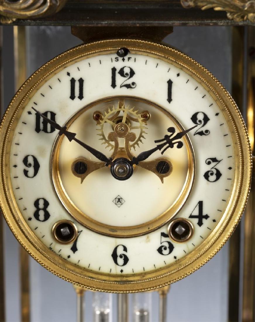Ansonia Bronze & Glass Regulator Clock, 19th c. - 2