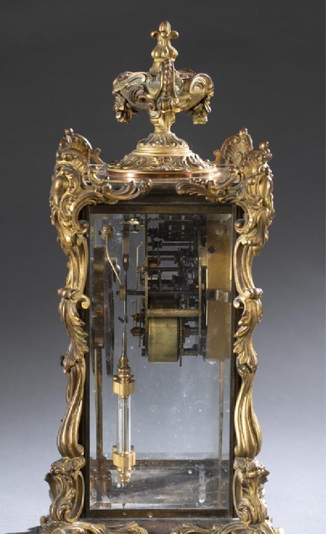 Ansonia Bronze & Glass Regulator Clock, 19th c. - 5