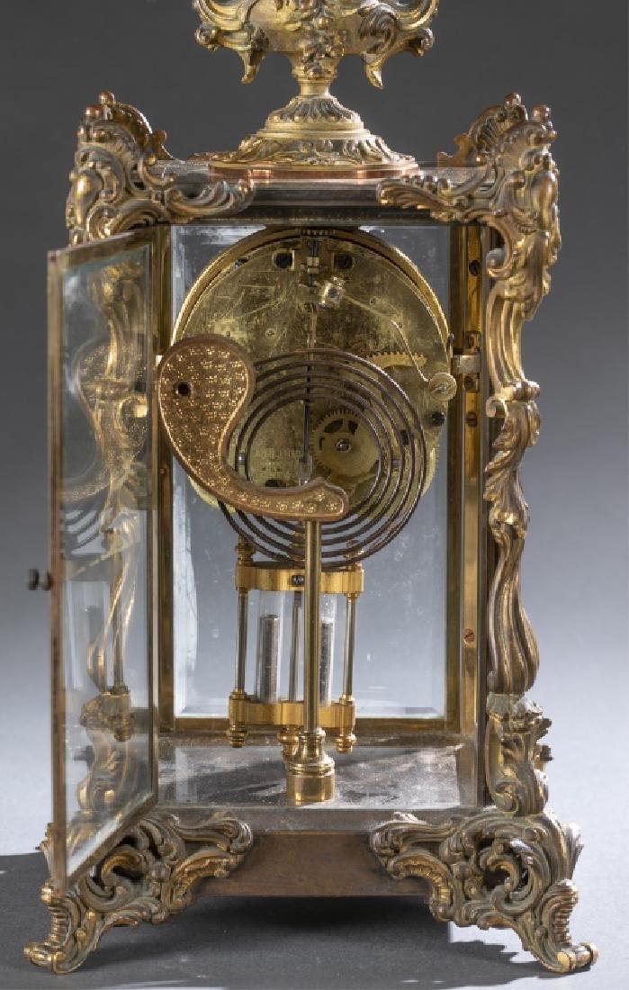 Ansonia Bronze & Glass Regulator Clock, 19th c. - 6