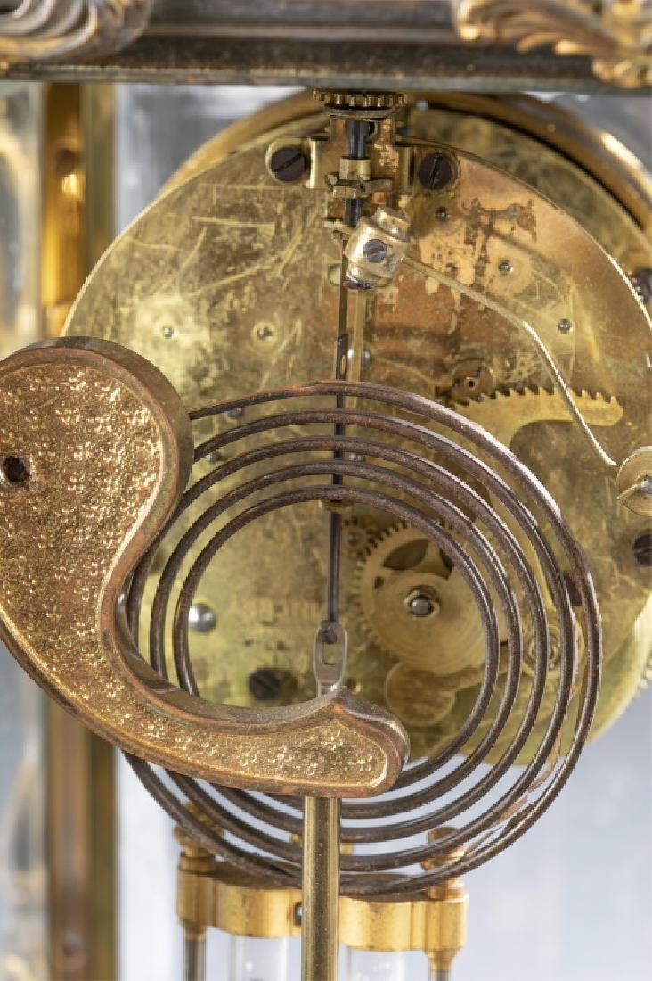Ansonia Bronze & Glass Regulator Clock, 19th c. - 7
