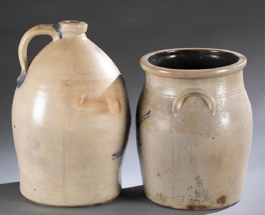 2 Stoneware Crock & Jug,19th century. - 6