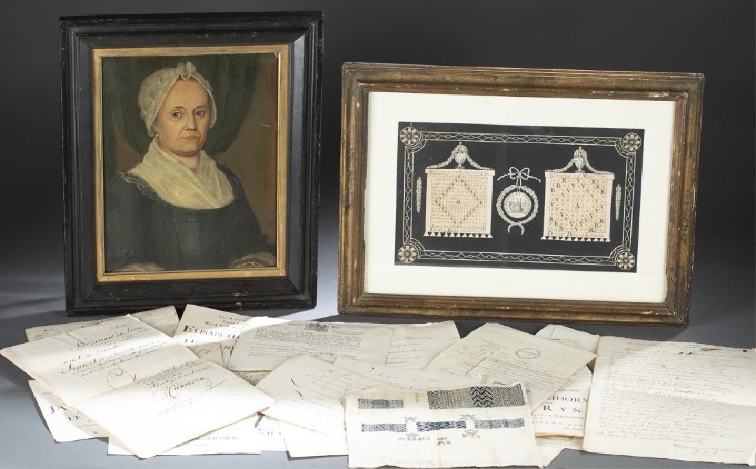 Group of Dutch genealogical ephemera, 18th/19th c.
