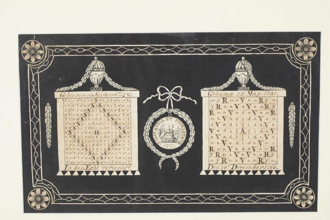Group of Dutch genealogical ephemera, 18th/19th c. - 2