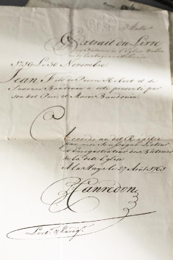 Group of Dutch genealogical ephemera, 18th/19th c. - 7