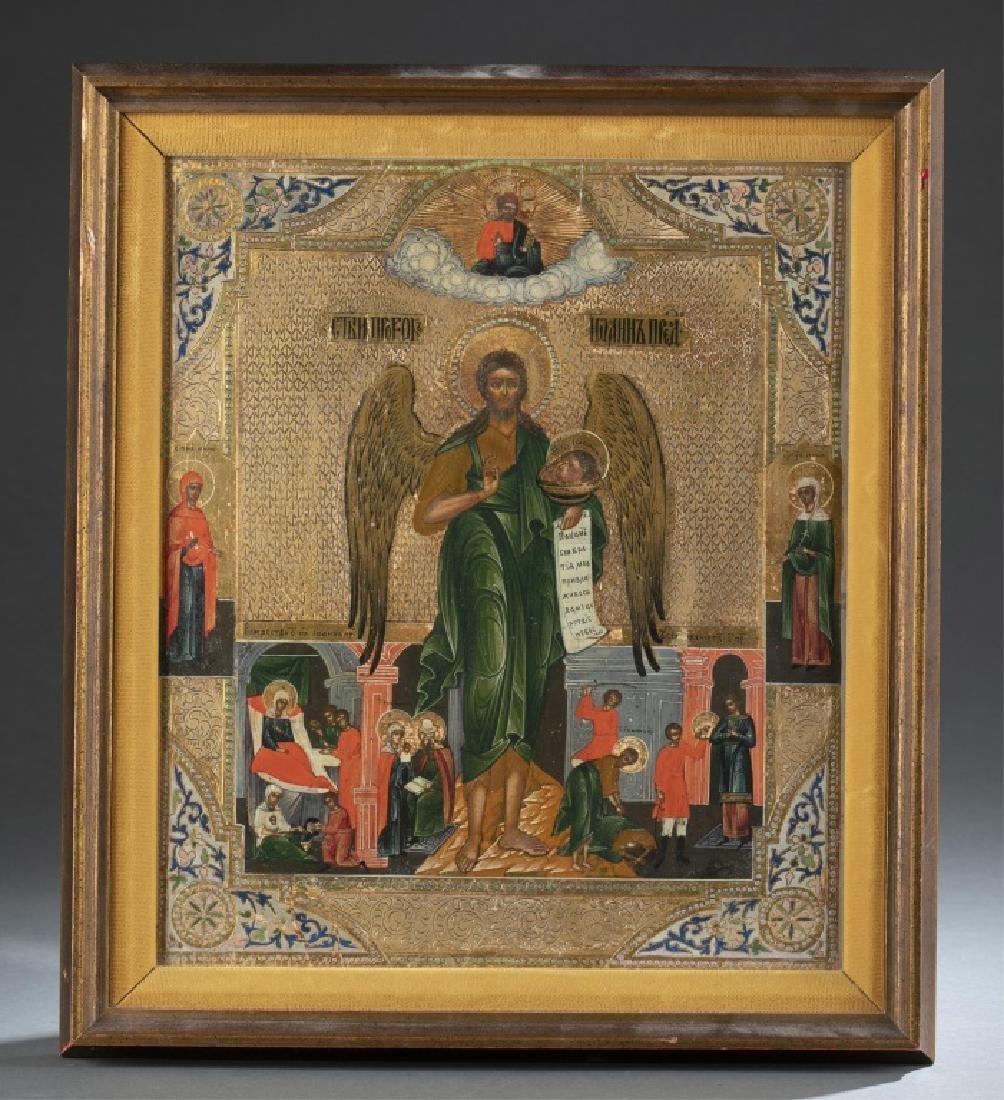 Greek Icon, John the Baptist, 19th/20th century.