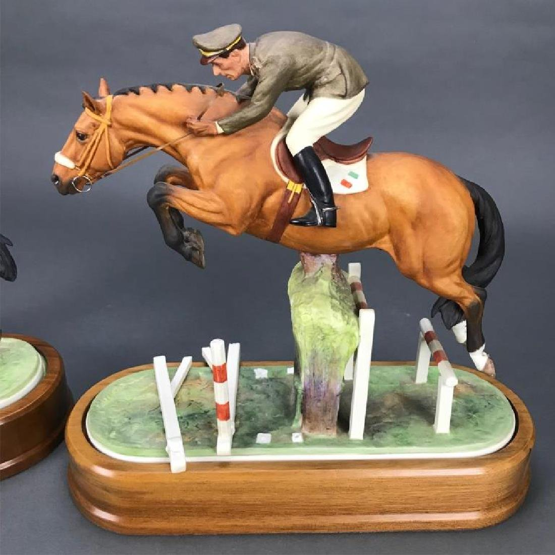 2 Royal Worcester, porcelain, equestrian figures. - 5