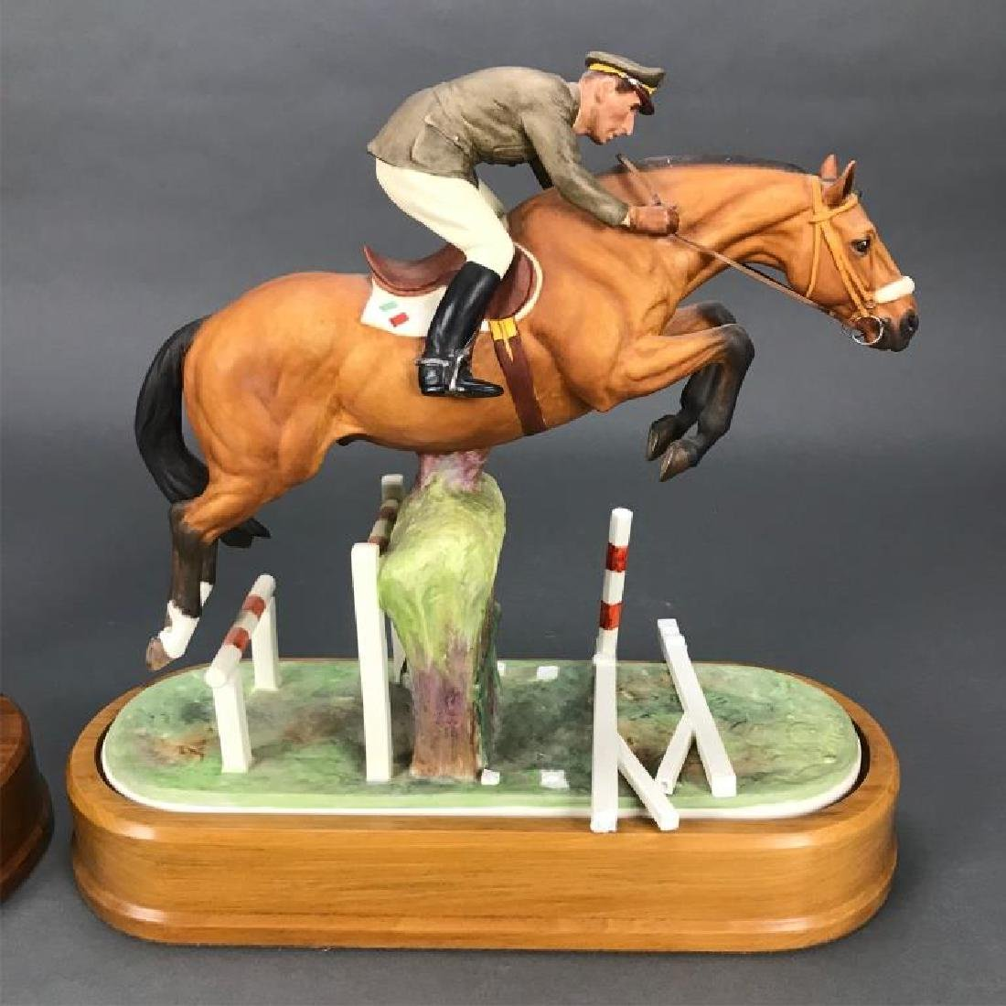 2 Royal Worcester, porcelain, equestrian figures. - 6