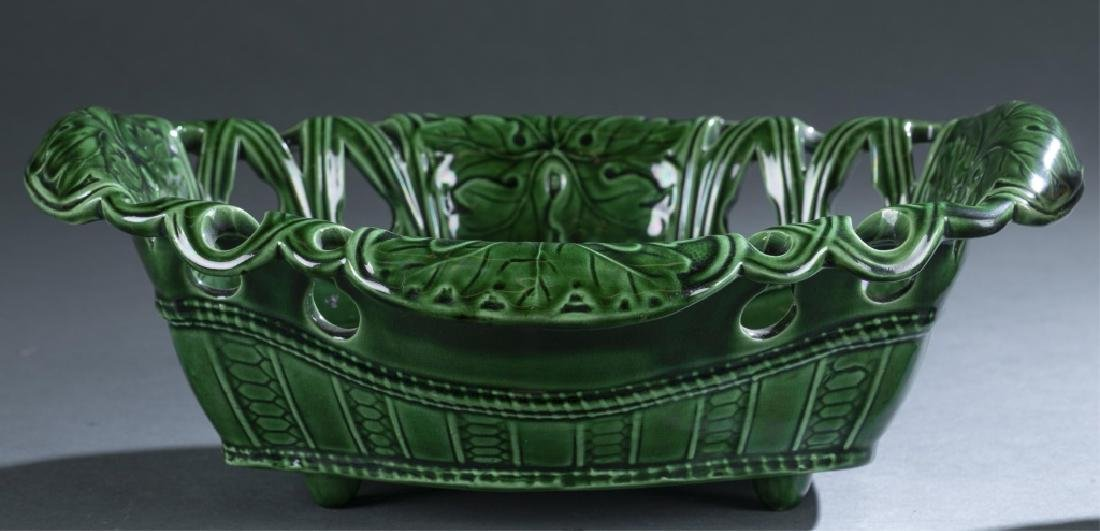 2 Pieces of Majolica Bowl & Pitcher. - 2