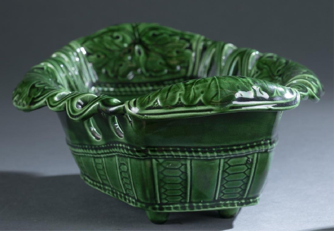 2 Pieces of Majolica Bowl & Pitcher. - 3