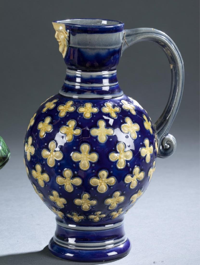 2 Pieces of Majolica Bowl & Pitcher. - 5