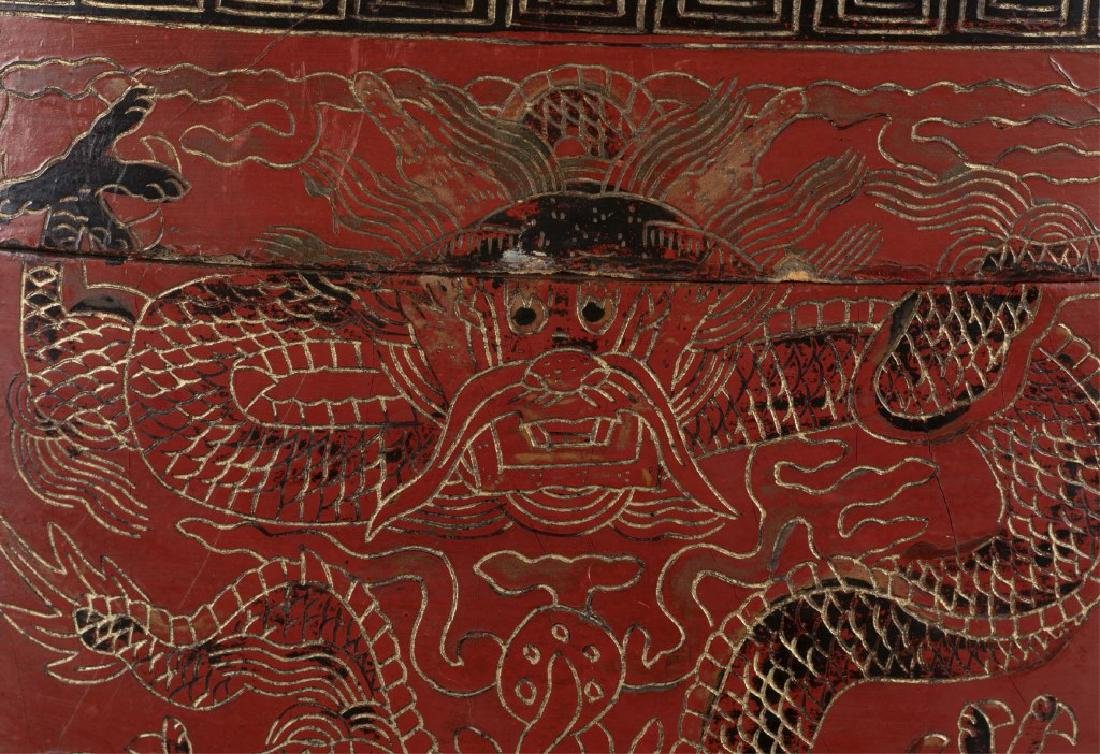 Red Chinese lacquer box - 2
