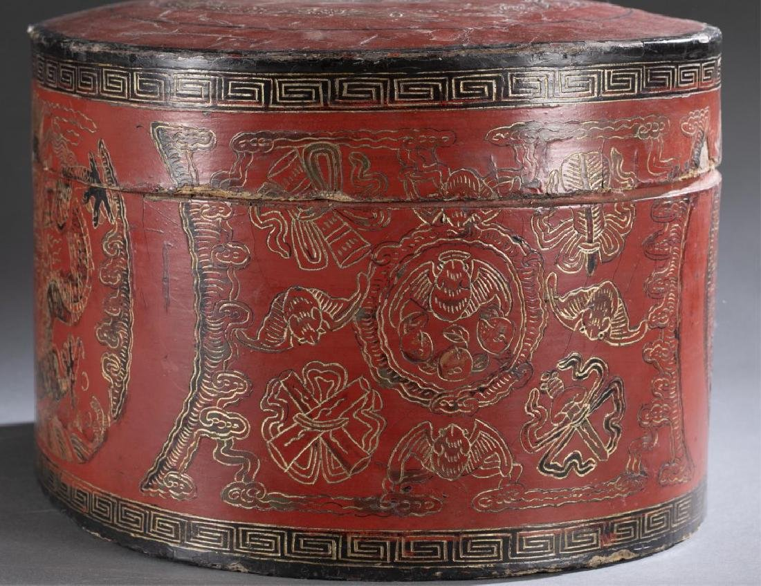 Red Chinese lacquer box - 3