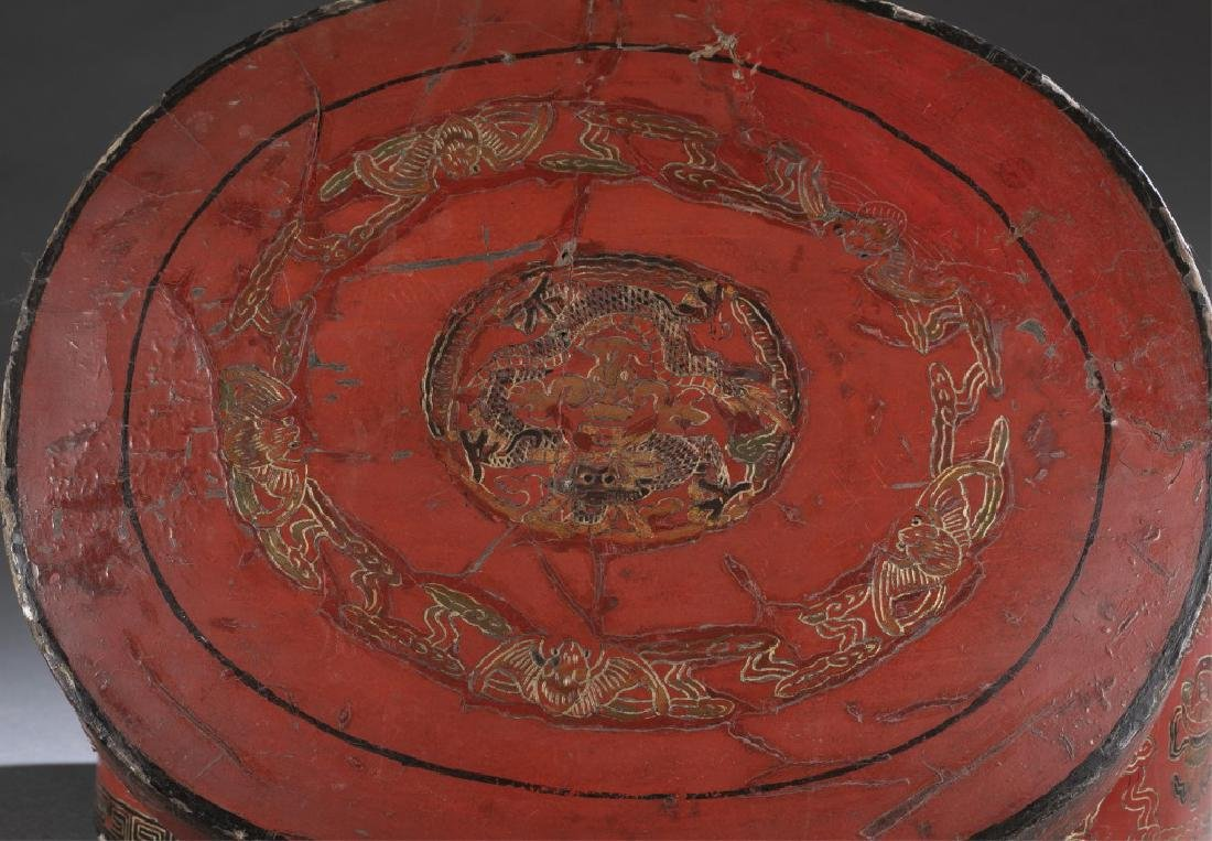 Red Chinese lacquer box - 5