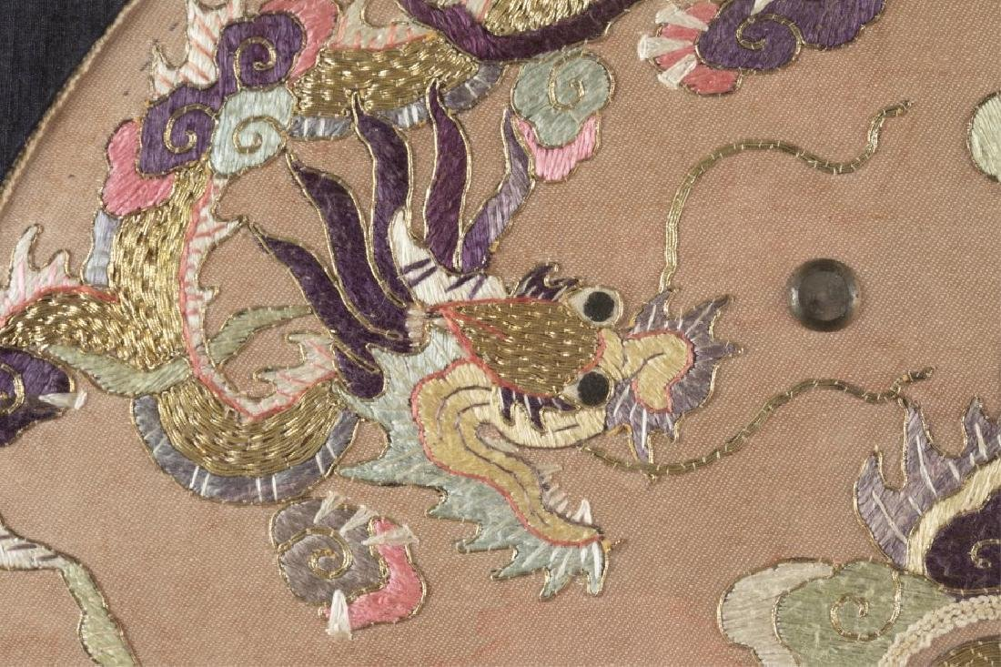 Chinese embroidery textile w/frame. - 3