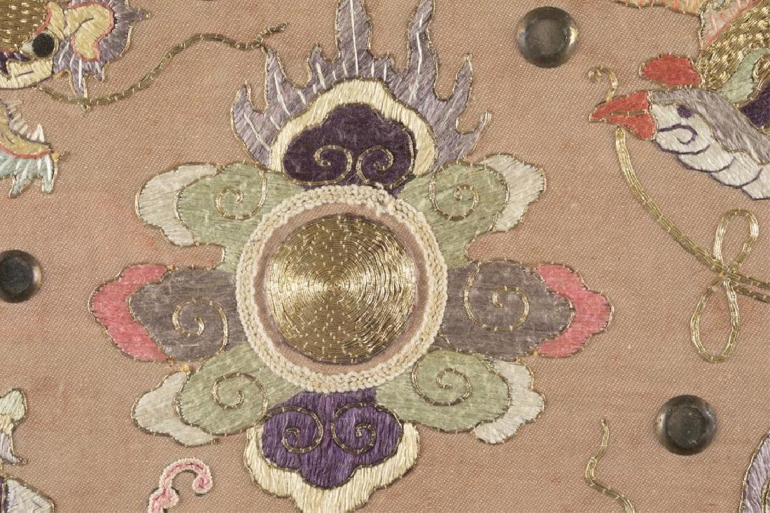 Chinese embroidery textile w/frame. - 4