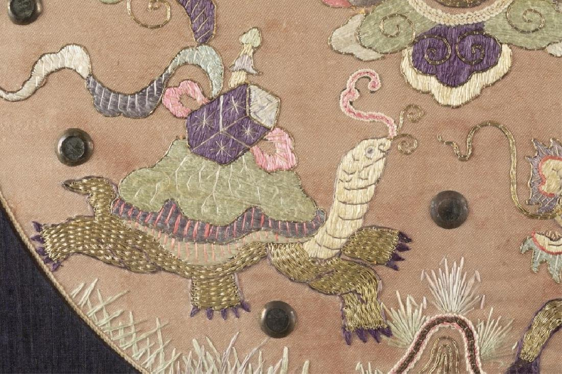 Chinese embroidery textile w/frame. - 5
