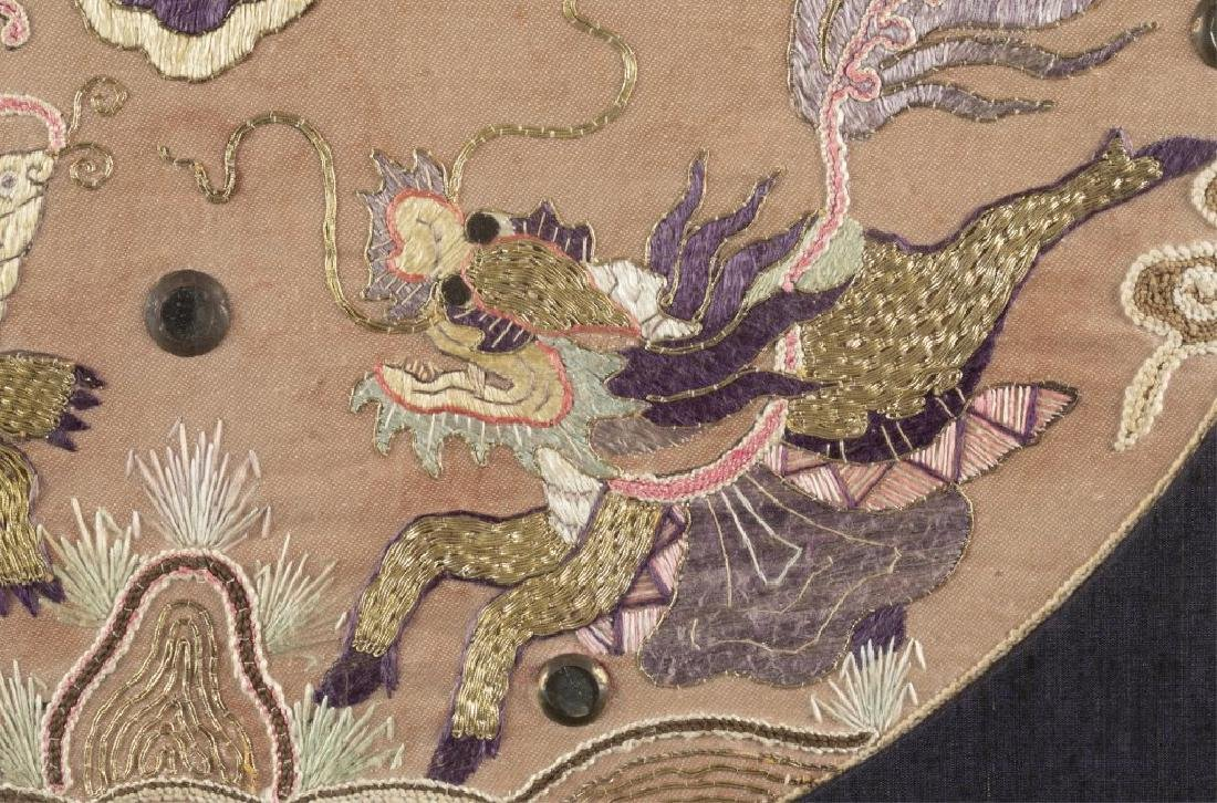 Chinese embroidery textile w/frame. - 6