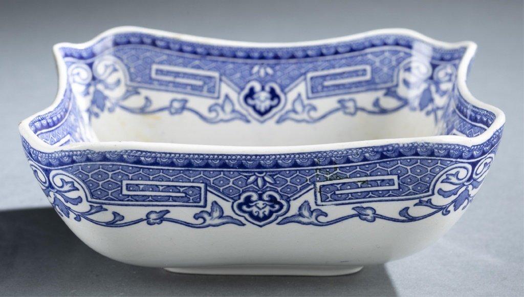 2 blue & white transferware pieces. - 5